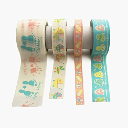 Adorox Assorted Multi-roll Sets of Craft Washi Masking Tape Art (Baby Shower)