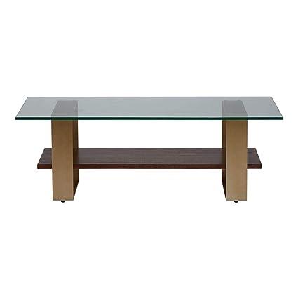 Ethan Allen Rosemoor Glass Top Rectangular Coffee Table, Charlton
