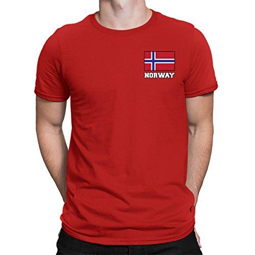 Norway Match (SpiritForged Apparel Norway Chest Flag Men's T-Shirt, Red XL)