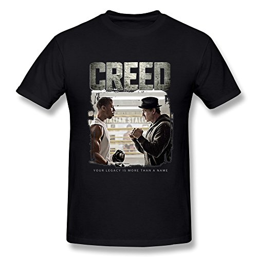- YvonneArt Men's Movie Creed Poster Adonis Johnson & Rocky Balboa T-shirts Black XX-Large