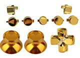 Chrome Gold PS4 Controller Button Kit Repair Mod Thumbsticks (Metal), Dpad, Start/Share, PS, Playstation 4 Dualshock 4 Review