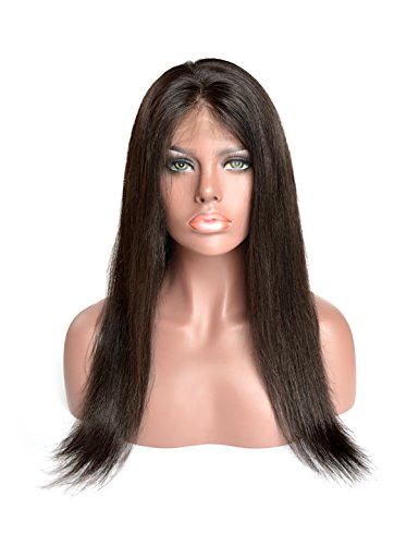 Baisi Hair Straight Full Lace Virgin Human Hair Wigs Glueless 150% Density Pre-Plucked 100% Virgin Full Lace Wigs with Baby Hair For Black Woman ( 12inch, full lace wig) (Black Sale Pre Friday)