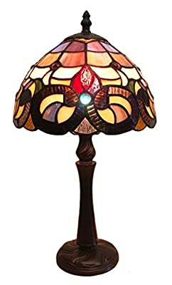 Fine Art Lighting Tiffany 8 by 15-Inch Table Lamp, 152 Glass Cuts, Mini