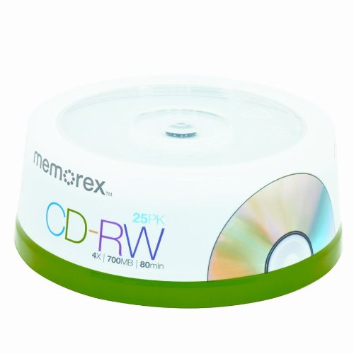 Memorex 32023413 4x 700 MB/80-Minute CD-RW Discs, 25-Pack Spindle Imation 32020020205 Blank Media & Cleaning Cartridges