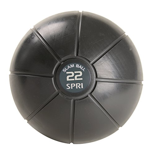 SPRI Slam Medicine Ball, Grey, 22lb