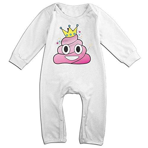 Boy & Girl Infants Princess Poop Long Sleeve Climb Romper 6 M (The Simpsons Family Costumes)