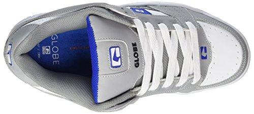 Globe Scribe, Scarpe da Skateboard Uomo Grigio (Grey/White/Blue)