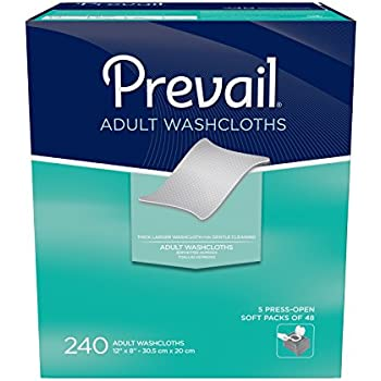 Prevail Adult Washcloths, 240 Count