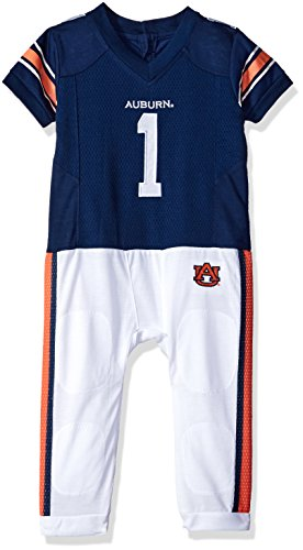 Auburn Tigers Child Uniform (NCAA Auburn Tigers Boys Infant Football Uniform Pajamas , 9-12 Months, Navy/White)