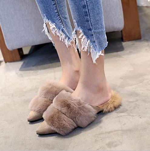 Donna Scamosciata Sera In Moda inverno Hy 35 Scarpe E Pantofole Pelle Eleganti Dimensione Casual Sposa colore Piatte Autunno Cachi Cachi Da pZZqzxE