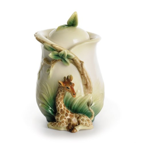 Franz Porcelain Giraffe Sugar Jar with Cover ()
