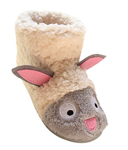 Cattior Womens Funny Cute Hot Slippers House Scarpette Stivali Grigio