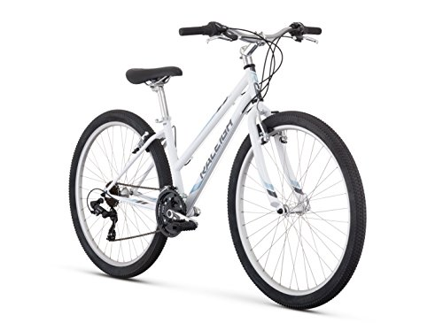 Raleigh Bikes Women's Eva 1 Recreational Mountain Bike, 17'/Medium, White
