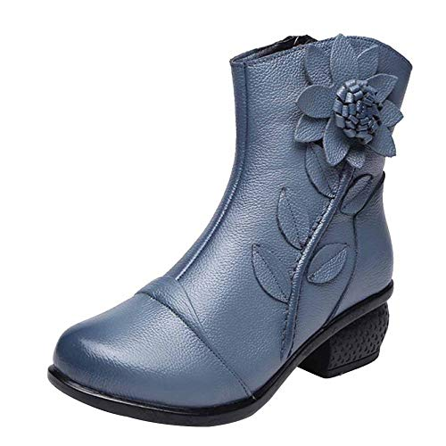 Color Stivali Da In Miss Donna Li Stile Martellata Stivaletti Più Etnico Velluto Pelle Blue fwxxZPzqTg