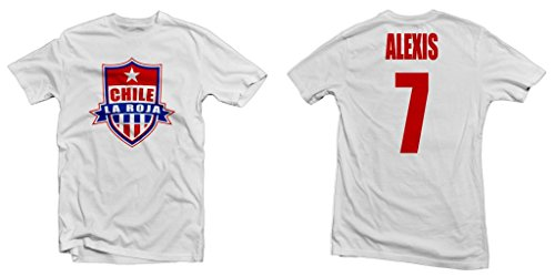 Chile La Roja Hero Tee: Alexis Sanchez Printed Tee - White| Adult 3X-Large [P*]