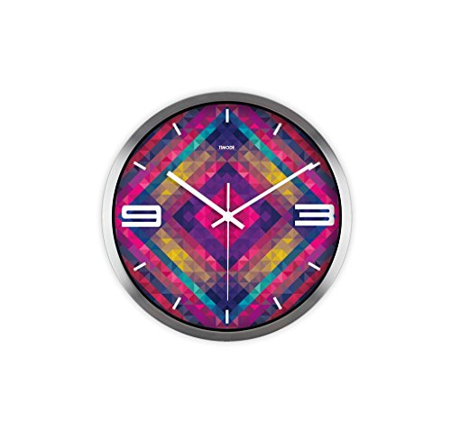 LQQGXL Mute Creative Stereo Living Room Decor Watch HD Glass Mirror Round Watch Stylish metal quartz clock Creative clock ( Color : B )