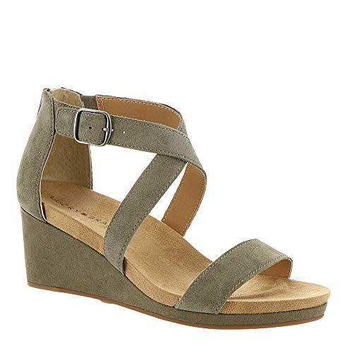 (Lucky Brand Women's Kenadee Wedge Sandal, Brindle, 11 M US)