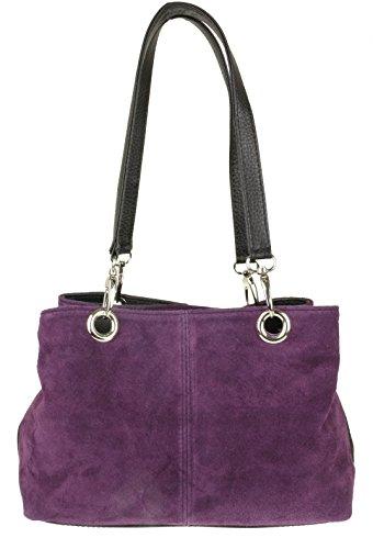 Girly Handbags - Bolso de hombro Mujer morado oscuro