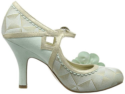 Ruby Shoo Cindy - Tacones Mujer Verde (Mint/Gold)