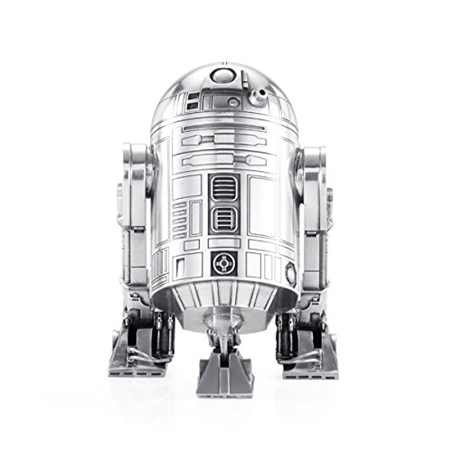 Royal Selangor Hand Finished Star Wars Collection R2-D2 Canister - Officially Licensed by Walt Disney (Lucasfilm) 9 cm (W) x 9 cm (L) x 12.5 cm (H)
