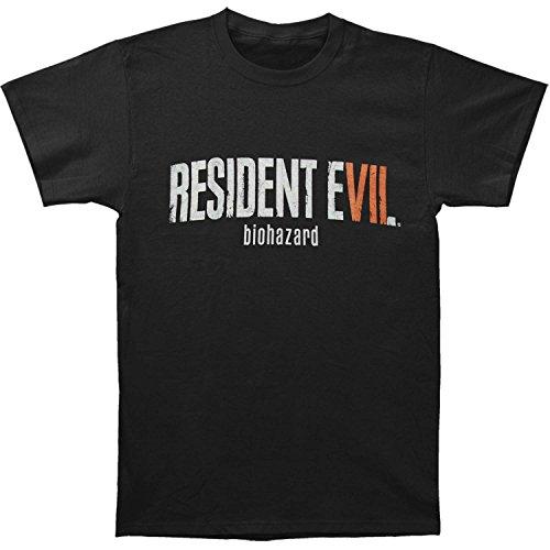 Resident Evil Men's RE7 Logo Slim Fit T-shirt XX-Large Black