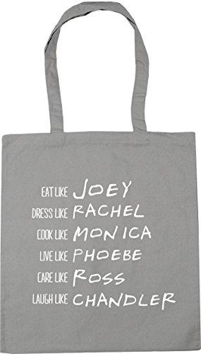 X38 Monica bag litri Rachel Joey chiaro Ross Grigio da Like cm 42 spiaggia Chandler Hippowarehouse cm Tote 10 Phoebe Be Shopping wIzBZB