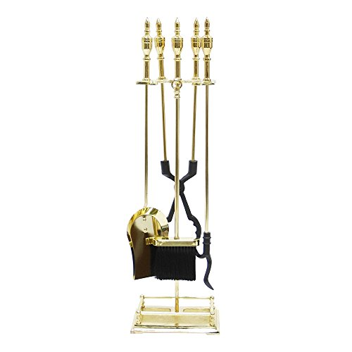 Minuteman International Lexington 5-piece Fireplace Tool Set, Polished Brass ()