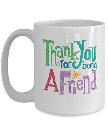 Jyotis - Thank You For Being A Friend - Friendship Gift - Best Friends - Big Mug - Office Gift - Retro TV - Quotes, Mother Day, Father Day for $<!--$13.95-->