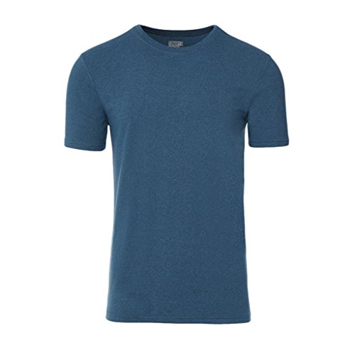 32 DEGREES Mens Cool Crew Neck Tee-Heather Sea Blue-M ()