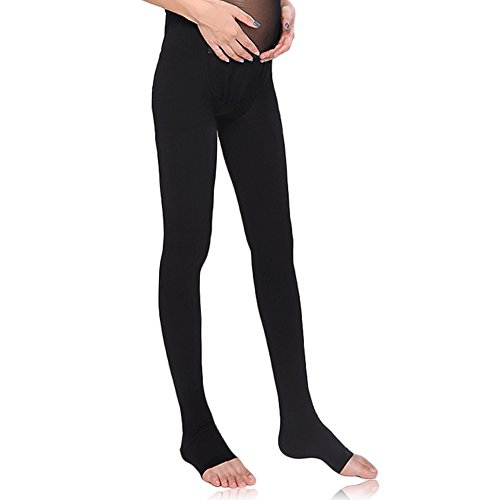 MEJORMEN Maternity Compression Pantyhose Open Toe 30~40mmHg Great to Help Pregnant Women Reduce and Prevent Swelling and Varicose Veins ()