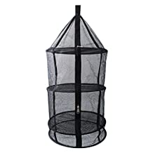 Elisona-4-Layer Foldable Kitchen Food Dishes Fruits Clothing Hanging Dry Net Basket for Home Outdoor Picnic Camping