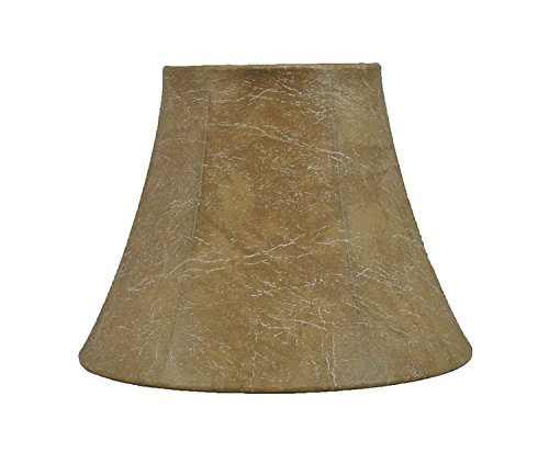 Urbanest Softback Bell Lamp Shade, Faux Leather, 5-inch by 9-inch by 7-inch, Spider-Fitter ()