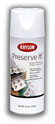 Krylon Aerosol Spray Gloss Finish Protects and Preserve Photos, Papers And Digital Prints (Pkg/3)