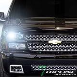 Topline Autopart 6000K Hid Xenon Black Head Lights+Bumper Signal Amber 4Pc 03-06 Chevy Silverado