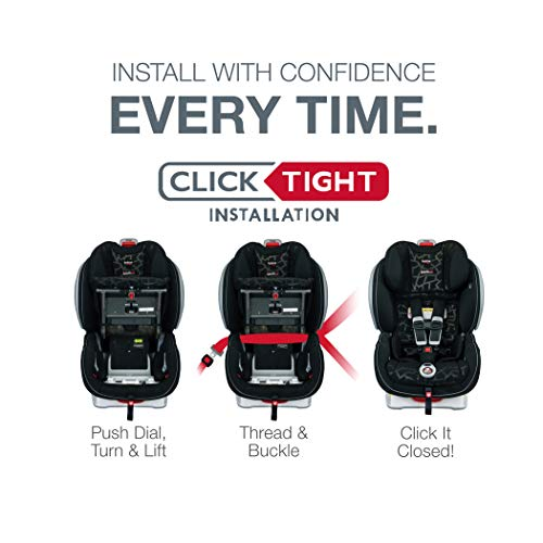 41mYefRFaNL - Britax Advocate ClickTight Convertible Car Seat | 3 Layer Impact Protection - Rear & Forward Facing - 5 To 65 Pounds, Venti