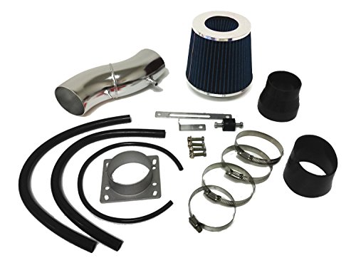 1991-1999 Nissan Sentra and 1993-1997 Altima and 1991-2002 Infiniti G20 all Models Air Intake Filter Kit System (Black Accessories with Blue (Nissan Sentra Intake)