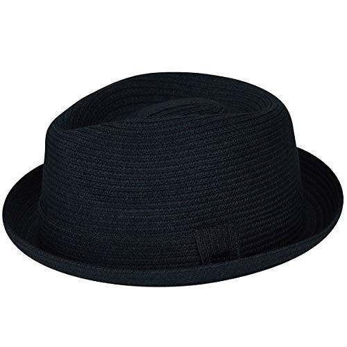 Bailey of Hollywood Men's Billy Braided Fedora Trilby Hat, Bluestone, M