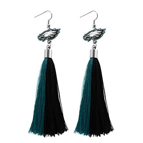 - Littlearth NFL Philadelphia Eagles Tassel Earrings