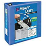 Heavy Duty Nonstick View Binder w/Locking 1 Touch EZD Rings, 4'''' Cap., Periwinkle, Sold as 1 Each