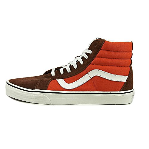 Vans Unisex Sk8-Hi Slim Womens Skate Shoe (2 Tone) Cappuccino/Burnt b65Mr0