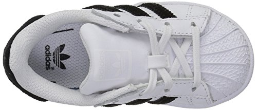 adidas Bianco Nero Scarpe Superstar J per Bambini Ragazzo gTrgSwRq