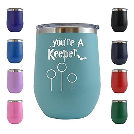 Youre A Keeper Harry Potter - Vaso de cristal grabado con ...