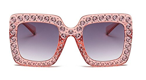 A Gafas Marco De Mujer Metal De Sol Gafas Diamante Gafas De Sol Sol De Cuadrado JUNHONGZHANG De K De Gafas De H7xwdBBtq
