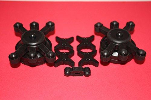 Black Bowjax Crossbow Kit Split Limb Dampener Silencer (Limb Silencer Dampeners)