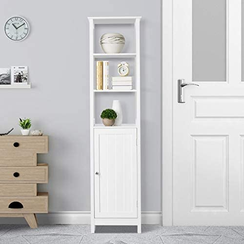 home, kitchen, furniture, accent furniture,  storage cabinets 7 discount Yaheetech Bathroom Floor Cabinet, Wooden Tall Storage Cabinet promotion