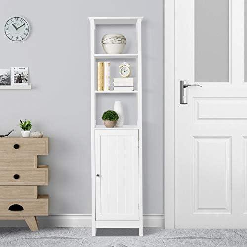home, kitchen, furniture, accent furniture,  storage cabinets 2 discount Yaheetech Bathroom Floor Cabinet, Wooden Tall Storage Cabinet deals