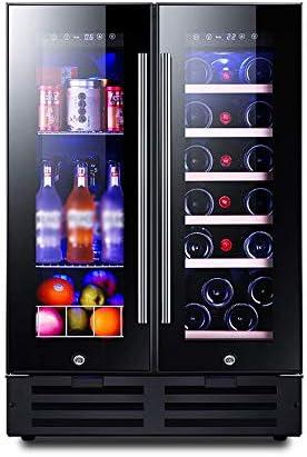 YFGQBCP 116L Doble Zona Enfriador de Vino, Memoria Inteligente/Funcionamiento silencioso Refrigerador/Touch Control de la Temperatura del Vino/Bebidas/Medicina