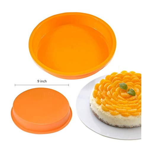 9 inch Round Silicone Cake Mold Pan Muffin Chocolate Pizza Pastry Baking Tray Mould baking tools