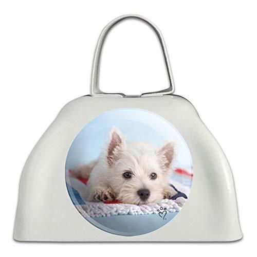 (West Highland Terrier Westie Puppy Dog Beach Towel White Metal Cowbell Cow Bell Instrument)