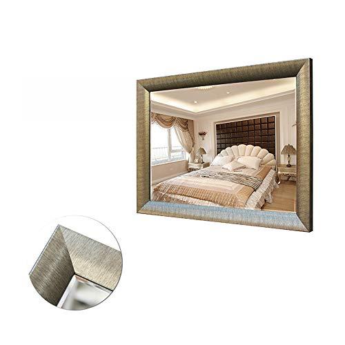 L-KCBTY European Framed Wall Mirror - Solid Wood Mirror, Rectangular Mirrors, Bathroom -